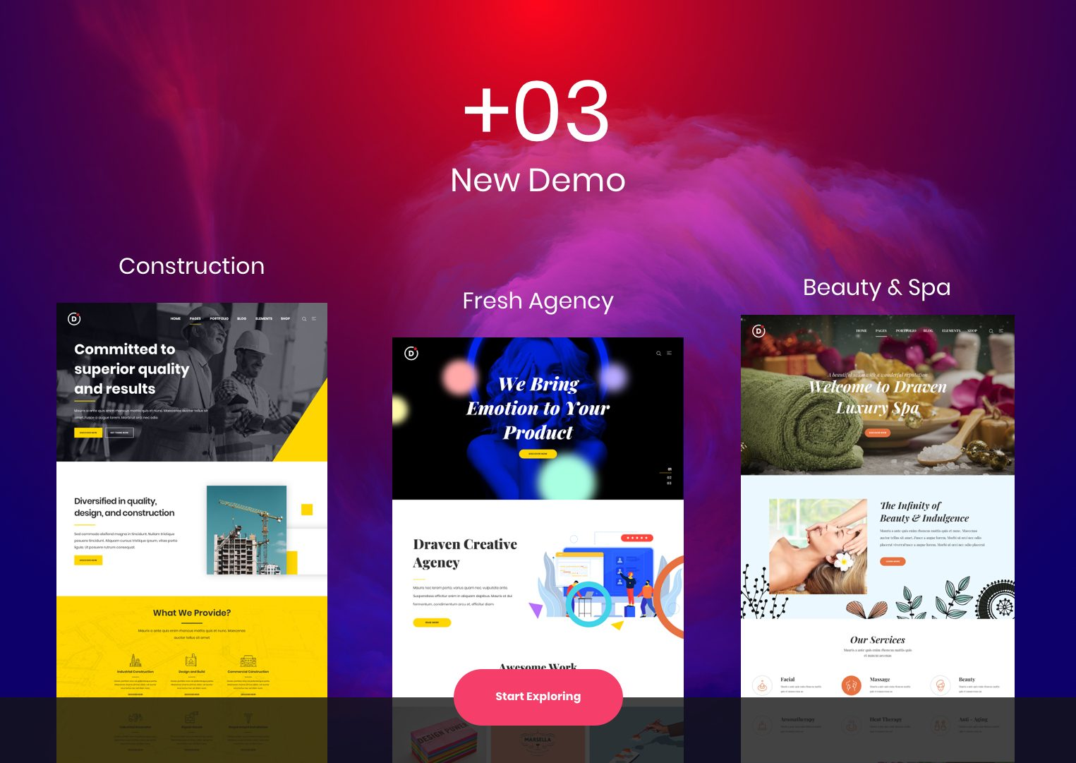 Draven – Multipurpose Creative Theme - 1