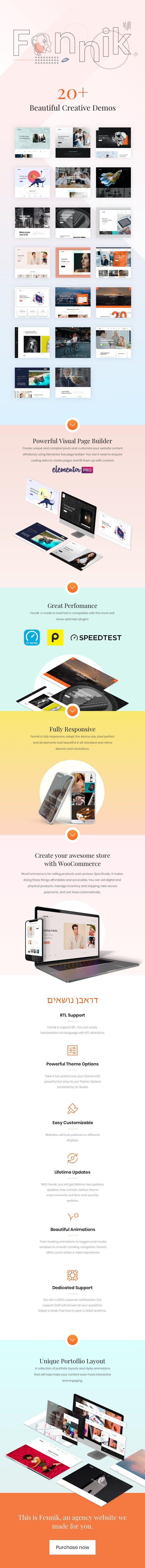 Fennik - Multipurpose Creative Theme