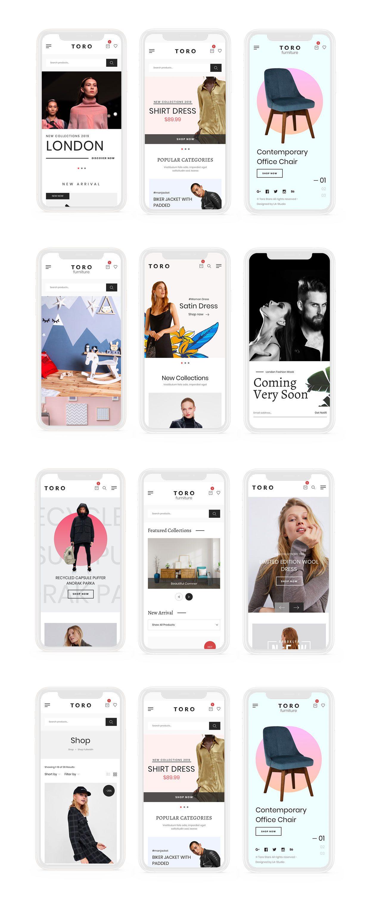 TORO - Clean, Minimal e-Commerce UI Kit - 1
