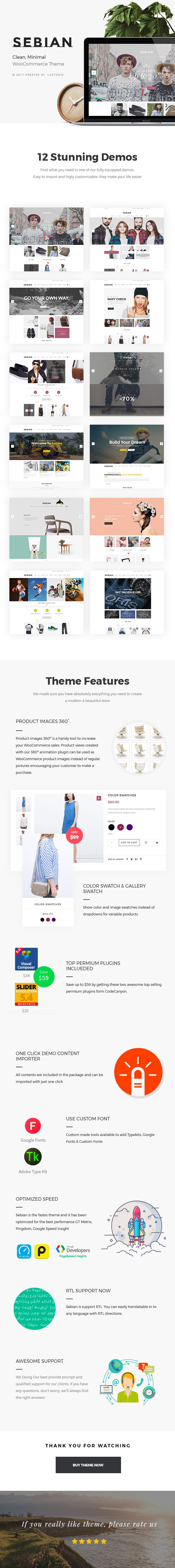 Sebian - Multi-purpose WordPress WooCommerce Theme - 1